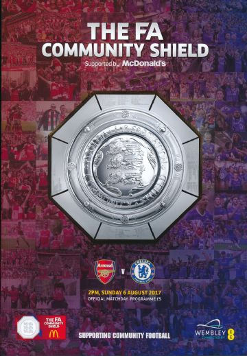 2017 FA Community Shield Chelsea v Arsenal - official match programme